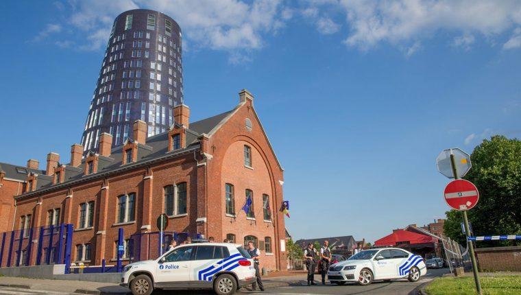 Charleroi, Bélgica, lugar donde dos policías fueron atacadas con machete por un yihadista. (Foto Prensa Libre: AFP)