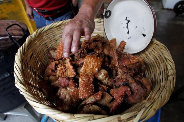 Chacharrones crujientes de Mixco. (Foto Prensa Libre: Paulo Raquec)