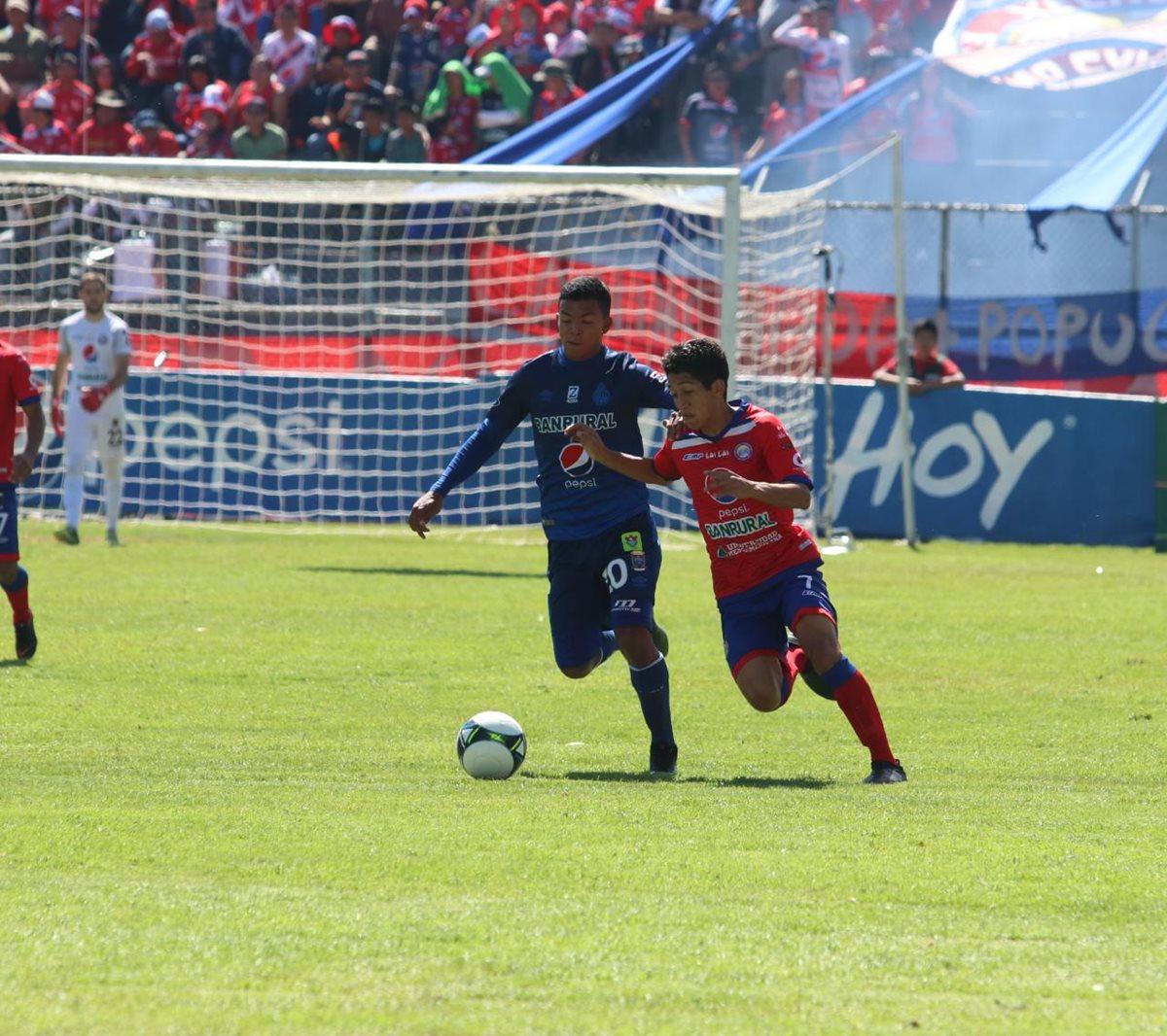 El cuadro altense llega a la fase final como uno de los favoritos para ganar el título. (Foto Prensa Libre: Raúl Júarez)