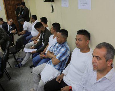 Vista general del juicio de los ocho acusados por el asesinato de la ambientalista Berta Cáceres este jueves, en una sala de la Corte Suprema de Justicia, en Tegucigalpa, Honduras. (Foto Prensa Libre: EFE)