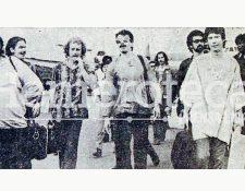 Santana y su banda arriba a La Aurora en 1973. (Foto: Hemeroteca PL)