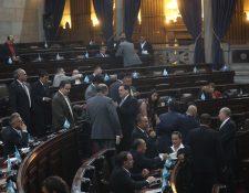 El Congreso entrará en el primer periodo de sesiones ordinarias de este año el próximo 14 de enero. (Foto Prensa Libre:; Érick Ávila)