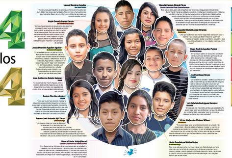 Infografía opinión jóvenes guatemaltecos.