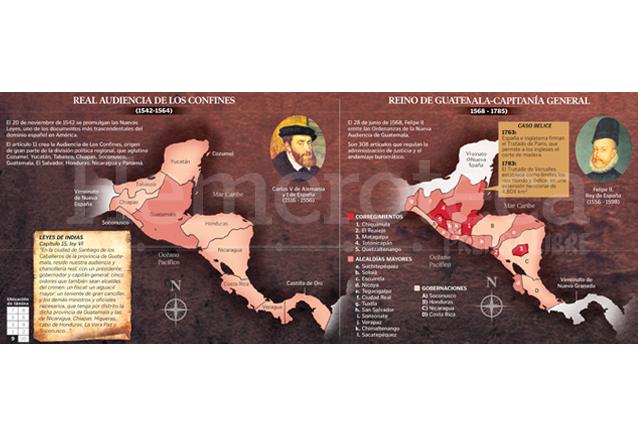 Evolución del mapa de Guatemala. (Foto: Hemeroteca PL)