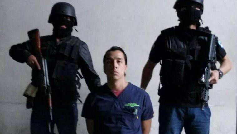 José Pablo Reyes Alemán, 25 años, es señalado de simular su secuestro. (Foto Prensa Libre: PNC)