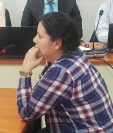 Anelisse Herrera, excolaboradora Alejandro Sinibaldi, declaró en una audiencia en agosto de 2017. (Foto Prensa Libre: Hemeroteca PL)