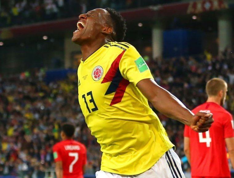 Mina fue el máximo goleador de la selección cafetera en este Mundial 2018 con tres dianas. (Foto Prensa Libre: BBC)