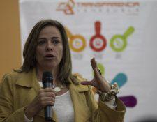 La directora de Transparencia Venezuela, Mercedes De Freitas, habla sobre el impacto del caso Odebrecht. (Foto Prensa Libre: Transparencia Venezuela)