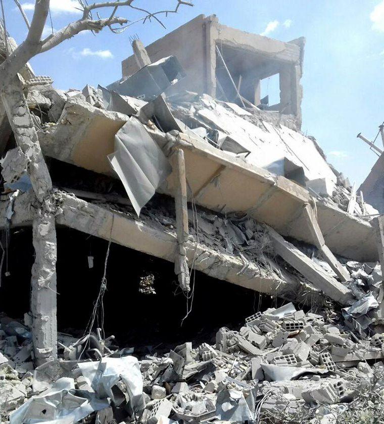 El Centro de Estudios Científicos de Investigación sirio destruido tras la intervención militar de Estados Unidos, Francia y el Reino Unido. (Foto Prensa Libre:EFE).