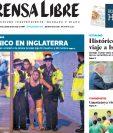 Portada de Prensa Libre del 23 de mayo de 2017 informando sobre el atentado de Manchester, Inglaterra. (Foto: Hemeroteca PL)