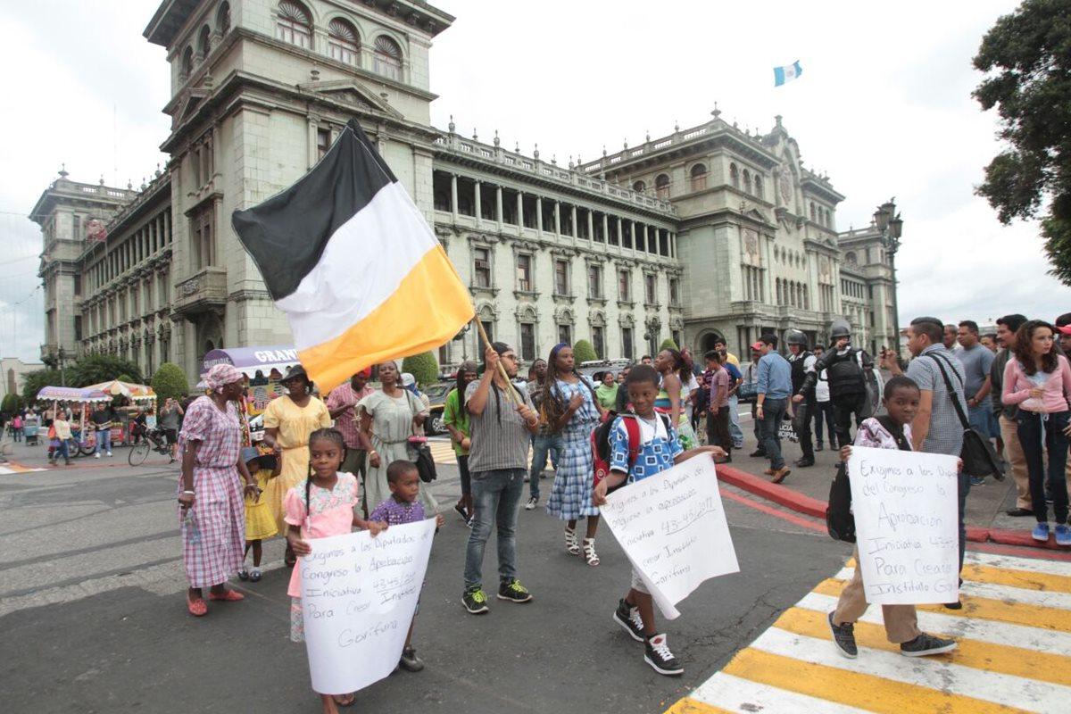 Garífunas manifiestan en contra de la discriminación