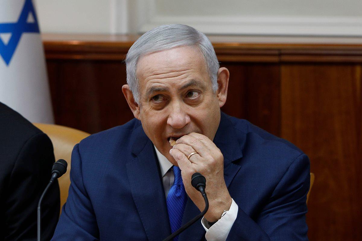 Primer ministro israelí, Benjamin Netanyahu. (Foto Prensa Libre: AFP)