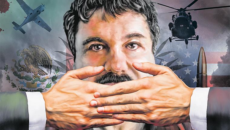 El Chapo Guzmán podría comprometer a EE. UU. en el juicio que comenzará en julio. (Fotoarte Prensa Libre: Sergio Espada)