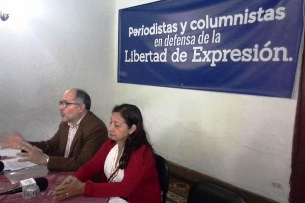 """Periodistas y columnistas apelaron por la defensa de la libertad de expresión. (Foto Prensa Libre: Manuel Hernández)<br _mce_bogus=""""1""""/>"""