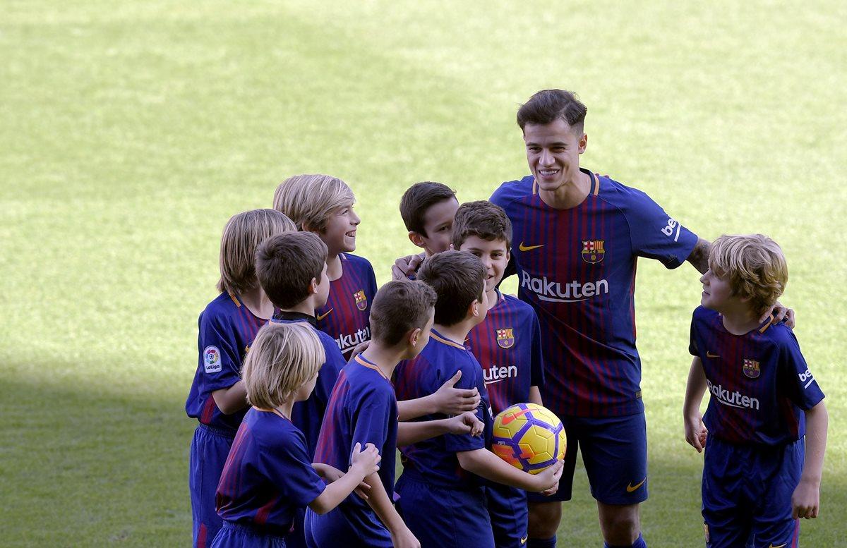 Philippe Coutinho estará listo para jugar a inicios de febrero. (Foto Prensa Libre: AFP)