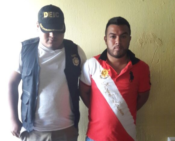 José Cortez Zarceño fue capturado en Conguaco, señalado de dos delitos. (Foto Prensa Libre: Cortesía PNC).
