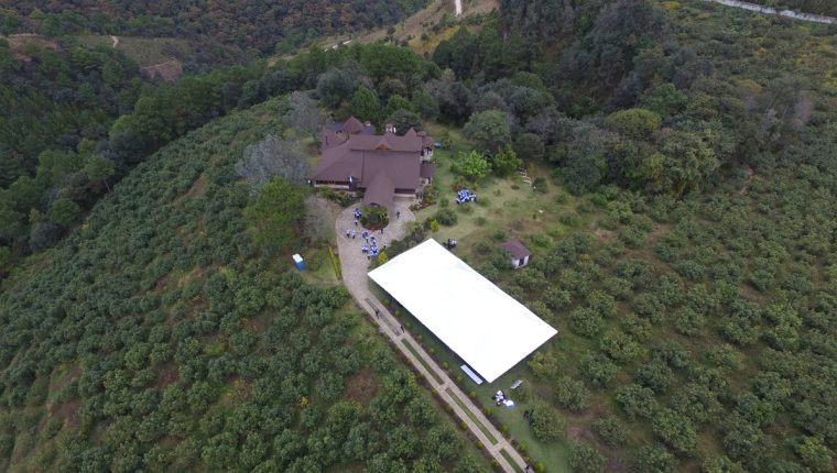La casa del expresidente Otto Pérez está en Zaragoza, Chimaltenango, donde funciona la Escuela Penitenciaria. (Foto Prensa Libre: Hemeroteca PL)