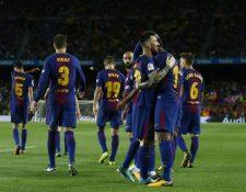 El FC Barcelona se impuso sin problemas con un contundente 6-1 al Eibar. (Foto Prensa Libre: AP)