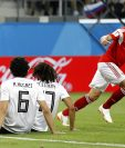 Cheryshev empató a Cristiano Ronaldo con tres goles en la Copa del Mundo. (Foto Prensa Libre: EFE)