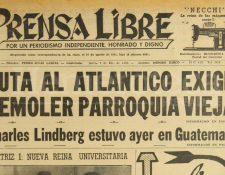 Titular de Prensa Libre del 3 de diciembre de 1953. (Foto: Hemeroteca PL)