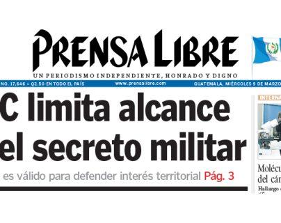 2005: Corte de Constitucionalidad opina sobre el secreto militar