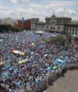 Los guatemaltecos salieron a las calles por 20 semanas consecutivas para expresar su rechazo contra la corrupción. (Foto Prensa Libre: Hemeroteca PL)