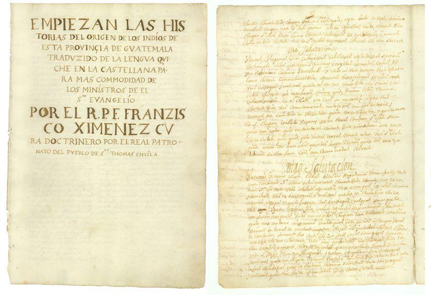 La impresión es fiel al original. Es el segundo facsímil que hay en Guatemala del Popol Vuh. (Foto: Newberry.org).