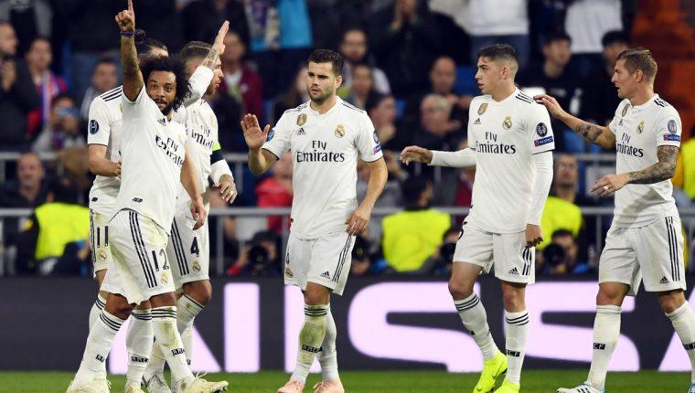El Real Madrid superó 2-1 al Viktoria Plzen, el gol definitivo fue de Marcelo. (Foto Prensa Libre: AFP)