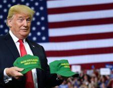 Donald Trump ha impulsado batallas comerciales en varios frentes en los últimos meses. FOTO: AFP