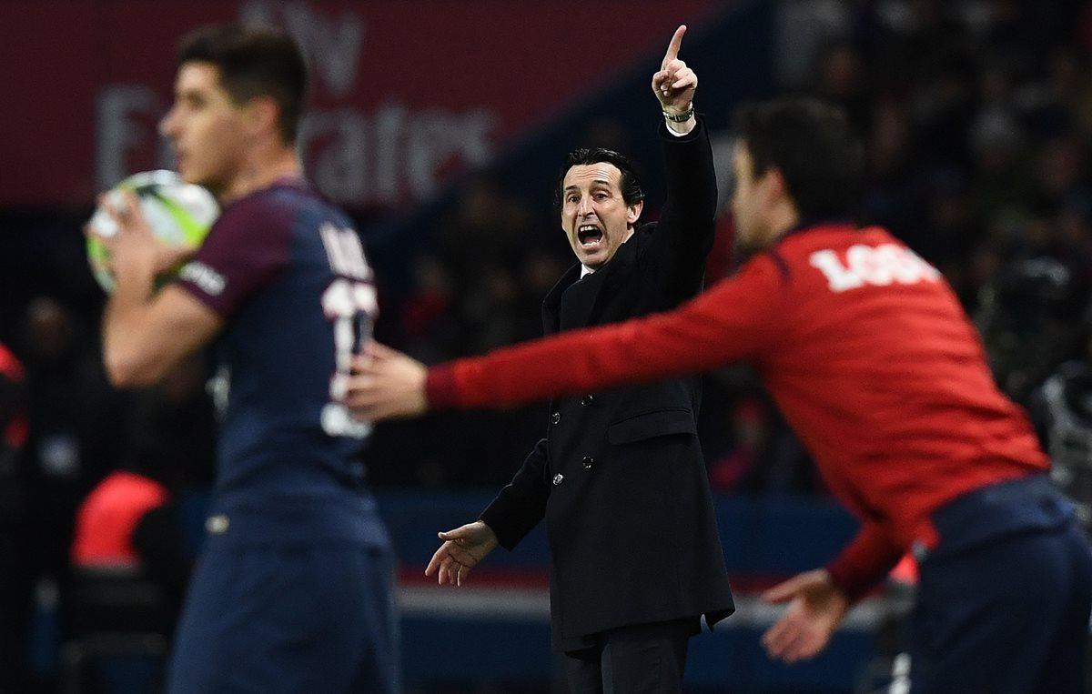 El entrenador Unai Emery afirma que tiene una plantilla fuerte para enfrentar al Real Madrid. en los octavos de final de la Champions. (Foto Prensa Libre: AFP)