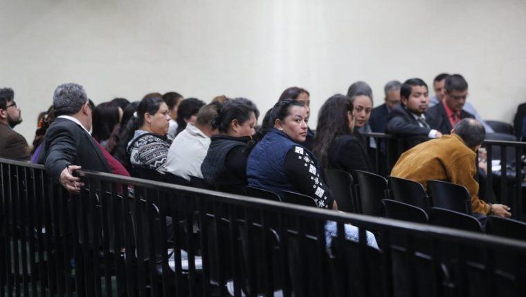 La audiencia se realizó en la sala de máxima capacidad del Organismo Judicial. (Foto Prensa Libre: Erick Ávila).