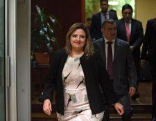 La canciller Sandra Jovel es investigada por la expulsión de 11 investigadores de la Cicig, según el Ministerio Público. (Foto Prensa Libre: Hemeroteca PL)