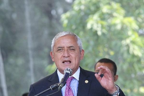 Presidente, Otto Pérez Molina, reitera contención del gasto.
