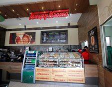 Krispy Kreme, que se estableció en el país en enero de este año. (Foto, Prensa Libre: Cortesía).