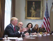 El presidente de EE. UU., Donald Trump, ha presionado para que se apruebe el presupuesto. (Foto Prensa Libre: EFE)