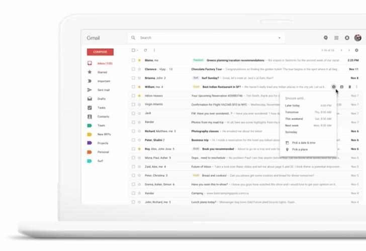 Esta sería la apariencia de la actualización de Gmail (Foto Prensa Libre: droidlife).