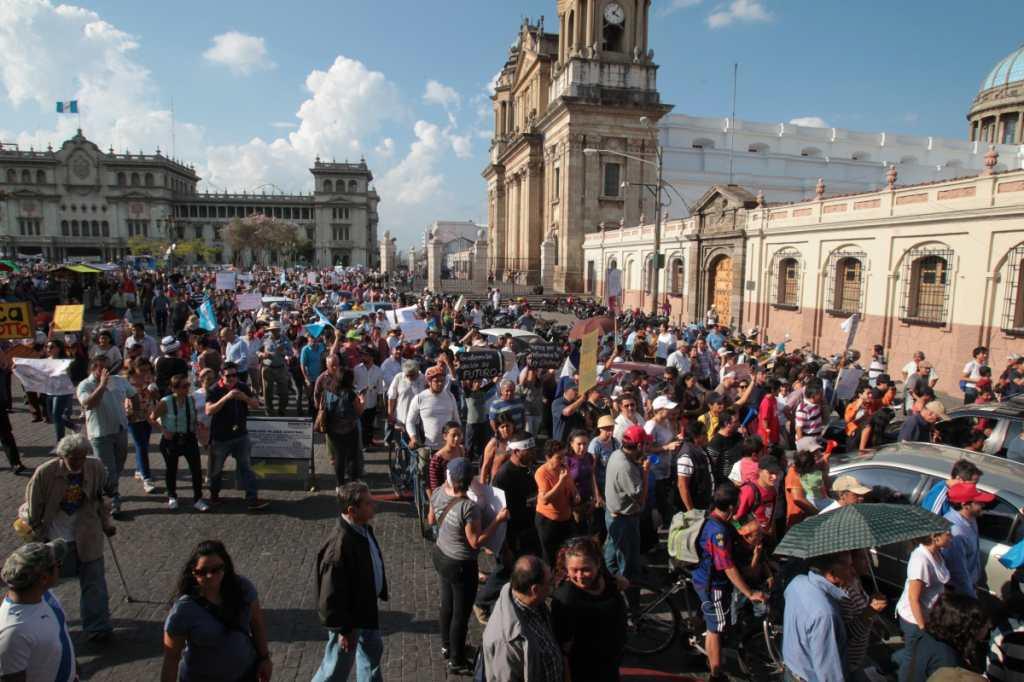 El 9 de mayo las personas pidieron la ratificación de la renuncia de Baldetti.