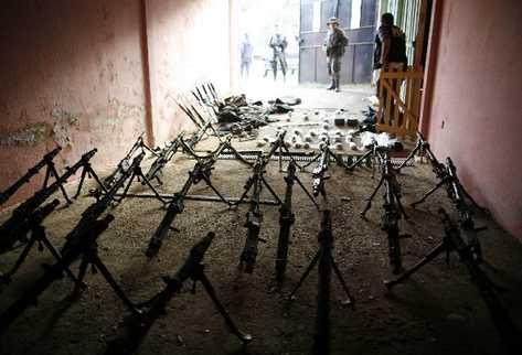 Armas incautadas a estructuras criminales en el país. (Foto Prensa Libre: Archivo)