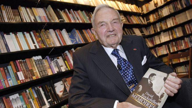 David Rockefeller fue por décadas el patriarca de la familia. AFP