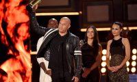 Los actores Tyrese Gibson, Vin Diesel, Michelle Rodriguez y Jordana Brewster reciben el premio Generación  por The Fast and the Furious.