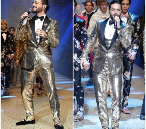 """3106407dba En la colección King's angels de Domenico Dolce y Stefano Gabbana coronaron  como sus """"ángeles"""" a varias celebridades, entre ellos el delantero ..."""