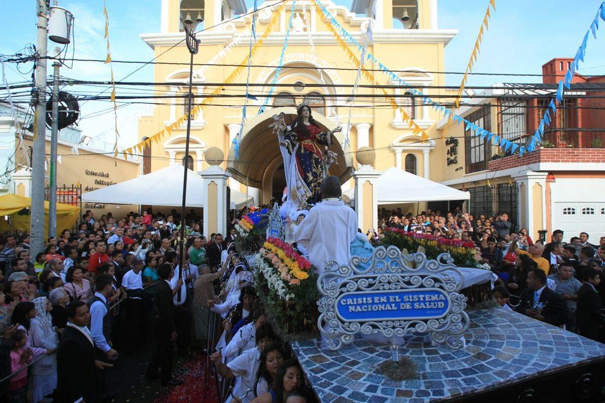 Procesión de la Virgen de la Asunción aboga por solución a crisis