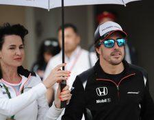 Fernando Alonso no participará en el Gran Premio de Bahrein de la Fórmula Uno. ( Foto Prensa Libre: AFP)