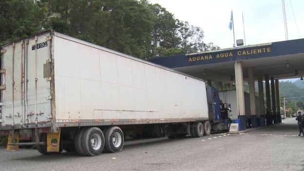 La frontera de Agua Caliente, la entrada de Honduras hacia Guatemala.