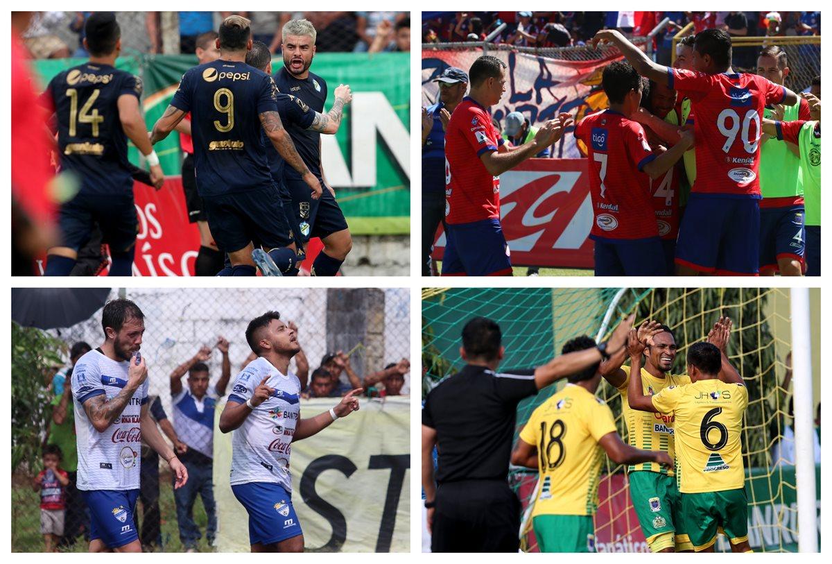 Cremas, Xelajú, Cobán Imperial y Guastatoya, son los equipos semifinalistas del Apertura 2018. (Foto Prensa Libre: Hemeroteca PL)
