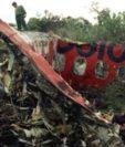 Restos del avión de Avianca, que estalló en pleno vuelo, dejando 107 muertos.
