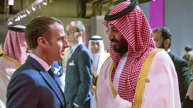 Esta es una captura de pantalla, verificada por la Agence France Press, que muestra el momento raro entre los dos líderes.