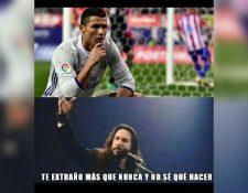 Cristiano Ronaldo fue el protagonista de los memes, después de que su exequipo perdiera la Supercopa de Europa. (Foto Prensa Libre: Twitter)