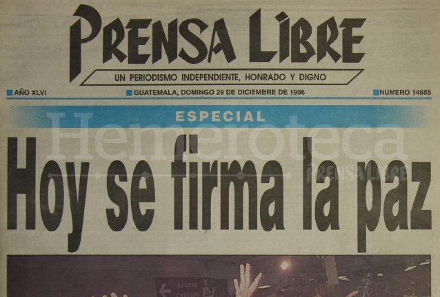 Las expectativas y la esperanza eran grandes para Guatemala, luego de 36 años de conflicto armado interno. (Foto: Hemeroteca PL)