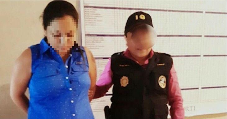 Karla María Rosa Chinchilla fue detenida por la PNC en su residencia. (Foto Prensa Libre: Cortesía PNC)